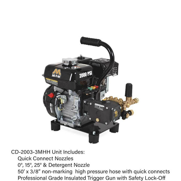 CD-2003-3MHH CD Series Gasoline Direct Drive Cold Water Pressure Washer by Mi-T-M