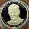 2015-S PROOF LYNDON JOHNSON PRESIDENTIAL DOLLAR