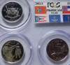 2002 PCGS PROOF 69 DEEP CAMEO CLAD STATE QUARTER SET with FLAG LABEL