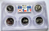 2004 PCGS PROOF 69 DEEP CAMEO CLAD STATE QUARTER SET with FLAG LABEL