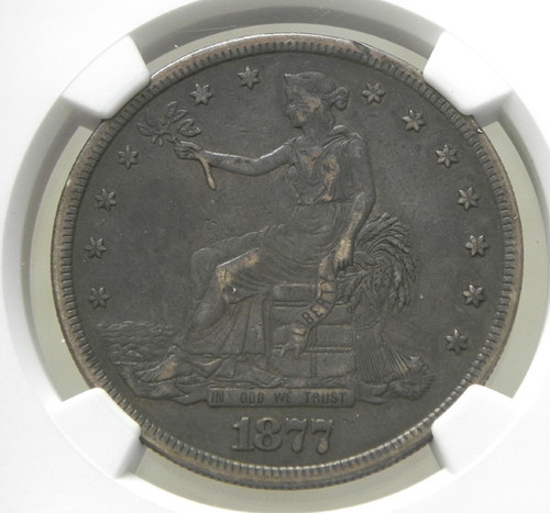 1877 NGC XF40 Trade Dollar - Deeply Toned