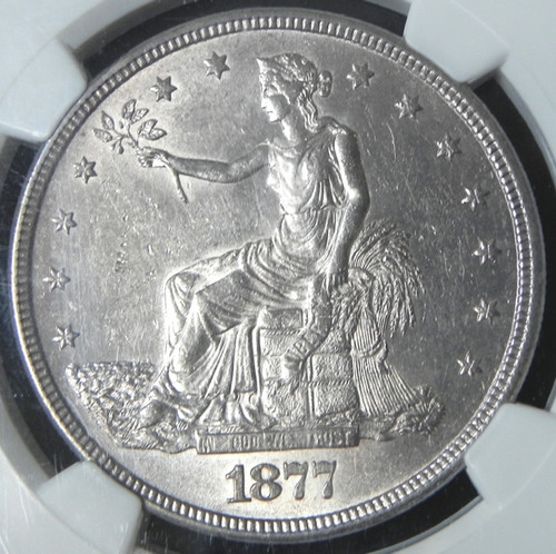 1877-S NGC MS61 TRADE DOLLAR - White - Flashy - Great look!