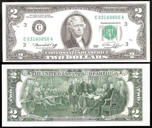 GEM QUALITY 1976 $2 Federal reserve Notes