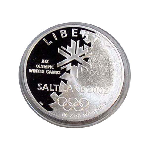 2002 PROOF SALT LAKE CITY WINTER OLYMPICS SILVER DOLLAR with OGP
