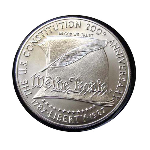 1987 MINT STATE CONSTITUTION SILVER DOLLAR with OGP