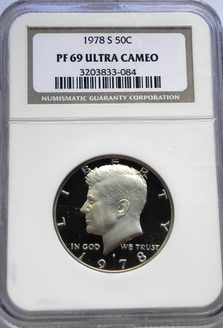 1978-S NGC PROOF 69 ULTRA CAMEO KENNEDY HALF DOLLAR