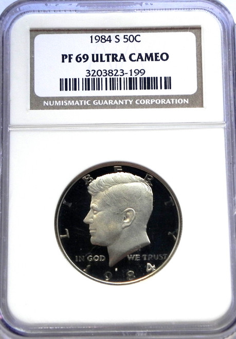1984-S NGC PROOF 69 ULTRA CAMEO KENNEDY HALF DOLLAR