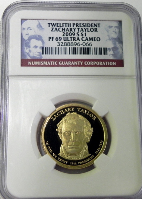 2009-S NGC PROOF 69 ULTRA CAMEO ZACHARY TAYLOR PRESIDENTIAL DOLLAR