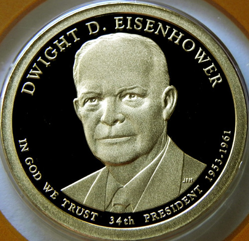 2015-S PROOF EISENHOWER PRESIDENTIAL DOLLAR