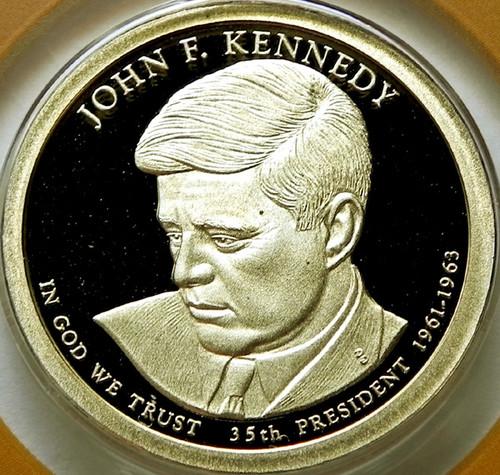 2015-S PROOF JOHN KENNEDY PRESIDENTIAL DOLLAR
