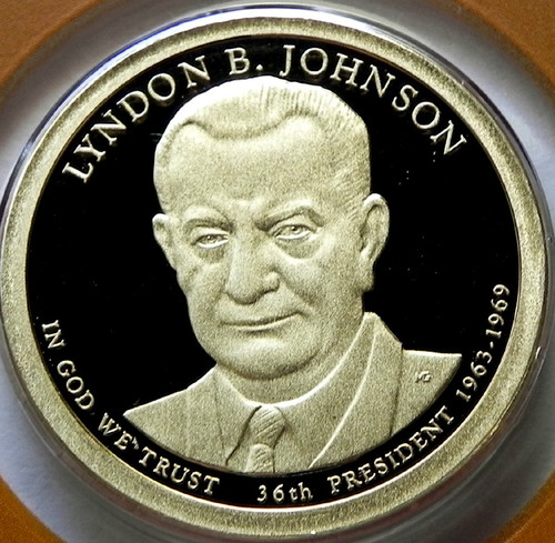 2015-S PROOF LYNDON JOHNSON PRESIDENTIAL DOLLAR