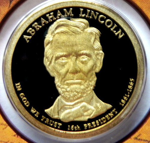 2010-S PROOF ABRAHAM LINCOLN PRESIDENTIAL DOLLAR