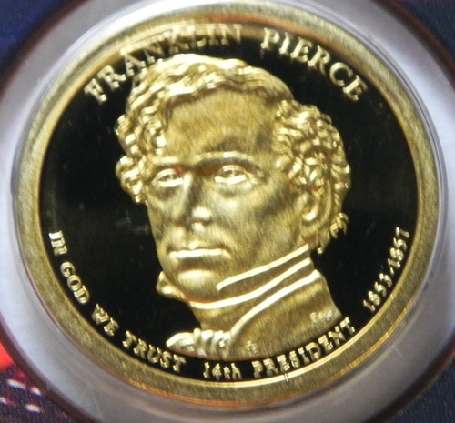 2010-S PROOF FRANKLIN PIERCE PRESIDENTIAL DOLLAR
