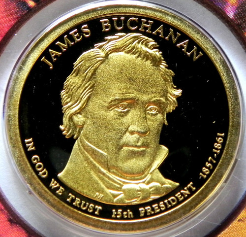 2010-S PROOF JAMES BUCHANAN PRESIDENTIAL DOLLAR