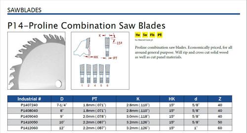 P14-Proline Combination Saw Blades