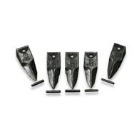 X156T 5 PACK. Romac. Quality aftermarket G.E.T. (bucket teeth) for Caterpillar (CAT), JCB, Bobcat, Takeuchi, John Deere, Case and Komatsu