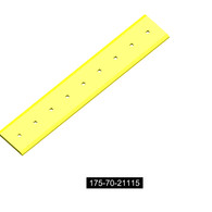 """175-70-21115. Romac. Komatsu style bolt on end cutting edge for a D135A-1 Komatsu Bulldozer. This is a double beveled reversible bucket cutting edge that is 1""""thick, 10""""wide and 55""""in length. It takes 9 of a 7/8""""X 3 1/2""""(875X350) plow bolt and 9 of a 7/8""""(875 HEX NUT) hex nut. The bolt hole spacing is 6""""from center to center of the first two bolt holes, and 3.5""""when measured from the edge of the bucket cutting edge to the center of the first hole.  Quality aftermarket cutting edges for Caterpillar (CAT), JCB, Bobcat, Takeuchi, John Deere, Case, Komatsu, Kubota and many others including manufacturers such as ESCO, Black Cat, Valley Blades for all your backhoe, grader, loader, skid steer and excavator cutting edge needs."""