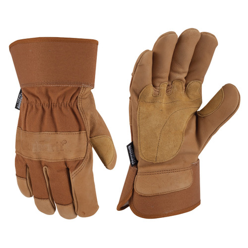 Carhartt A513 Insulated Safety Cuff Leather Work Glove - Single Pair