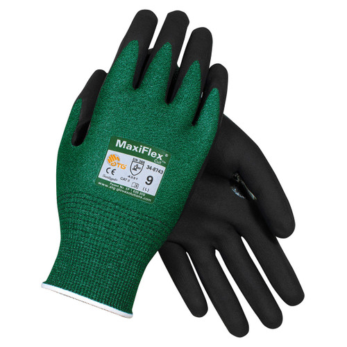 MaxiFlex 34-8743 Nitrile Coated Cut Resistant Gloves - Single Pair