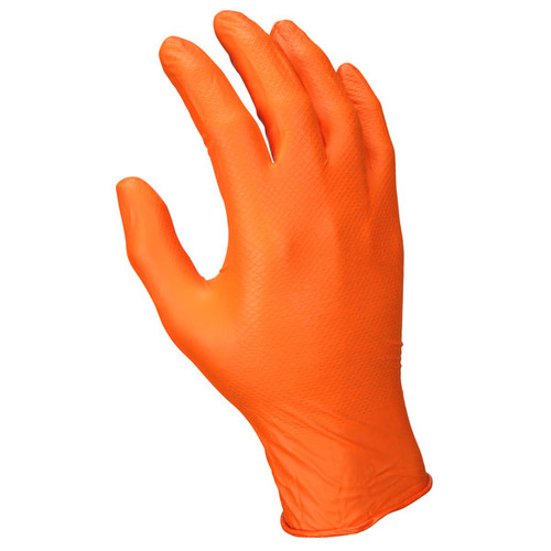 MCR Safety NitriShield Grippaz Nitrile Gloves - Box of 100 - 6016O