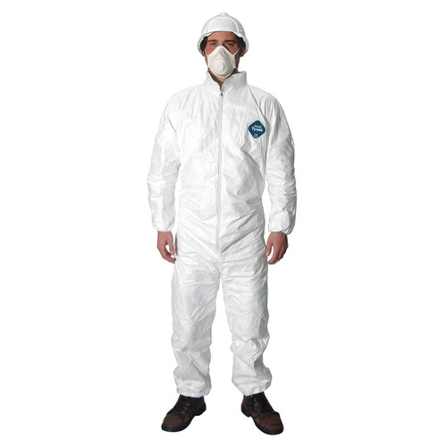 Tyvek Coveralls with Elastic Cuffs - TY125SWH - Sizes M, L, 2XL
