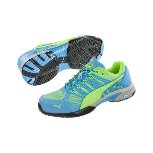Puma Safety Women's Celerity Blue Steel Toe Knit Shoes - 642905