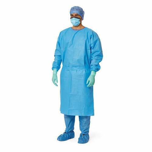 Pack of 10 Level 3 Woven Isolation Gown - Blue - XL