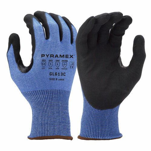 Pyramex Safety GL613C Touchscreen Micro-Foam Dipped Gloves - Single Pair