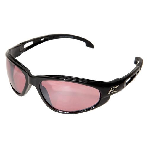 Edge Dakura Safety Glasses with Black Frame - Rose Mirror Lens