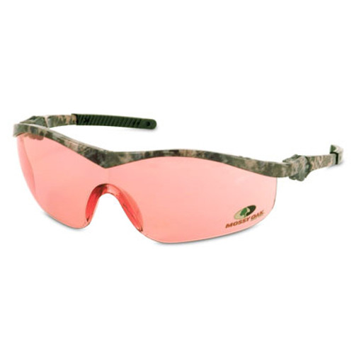 Crews Safety Glasses with Mossy Oak Frame and Vermillion Lens