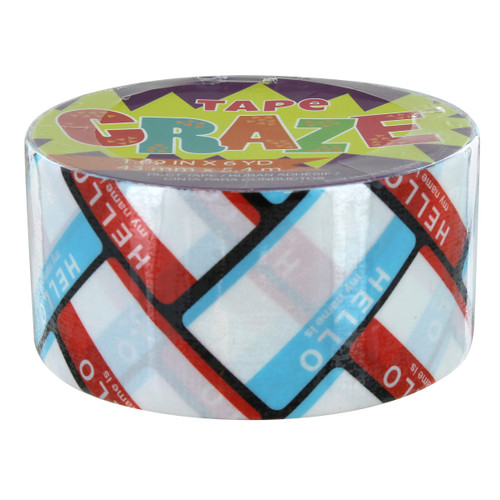 Tape Craze Hello My Name Is Craft Duct Tape - 1.69 in x 6 yd
