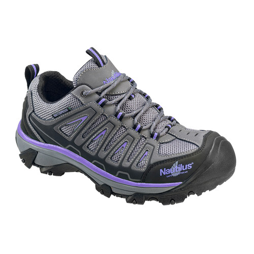 Nautilus Women's Grey/Purple Steel Toe EH Shoe - N2258