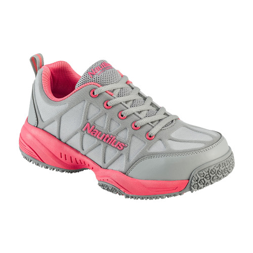 Nautilus Women's Grey/Pink Composite Toe Shoe - N2155