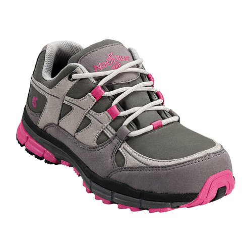 Nautilus Women's Pink and Grey Steel Toe Shoe  -  N1771