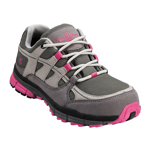 Nautilus Women's Pink and Grey Steel Toe Shoe  -  N1771
