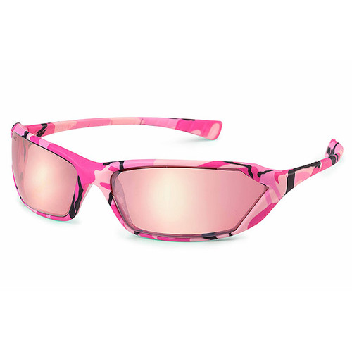 Gateway Safety Metro Pink Camo Safety Glasses - Pink Mirror Lens