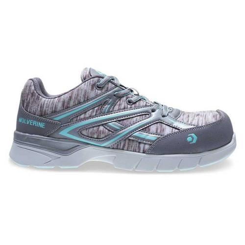 Wolverine Women's Blue/Grey JetStream Carbonmax Safety Toe Shoes - W10753