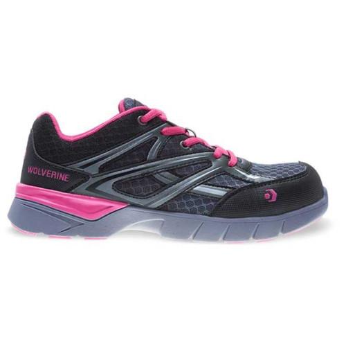 Wolverine Women's Pink/Black JetStream Carbonmax Safety Toe Shoe - W10678