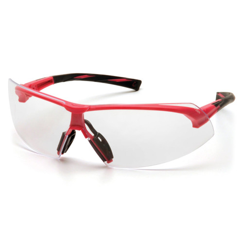 Pyramex Safety Onix Black/Pink Frame Safety Glasses - Clear Lens - SP4910S