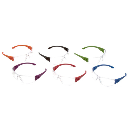 Pyramex Safety TruLock Safety Glasses Multi-Color 12 Pack - Clear Lens