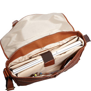 Sorrento Leather Laptop Messenger