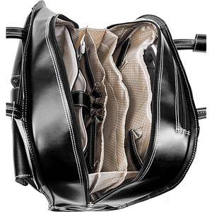 "Davis Leather 15"" Wheeled Ladies' Laptop Case"