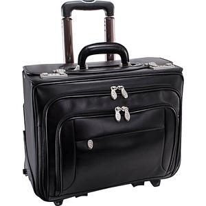 """Sheridan Leather Wheeled 15"""" Laptop Catalog Case"""