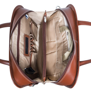 """Lakewood -Fly-Through 15"""" Checkpoint-Friendly Removable Rolling Ladies' Laptop Briefcase"""