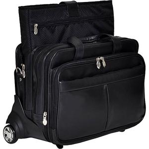 """Roosevelt Leather Detachable Wheeled 17"""" Laptop Case"""