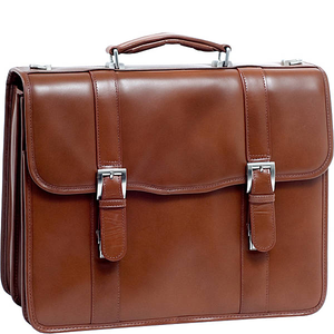 "V Series Flournoy 15"" Leather Double Compartment Laptop Case"