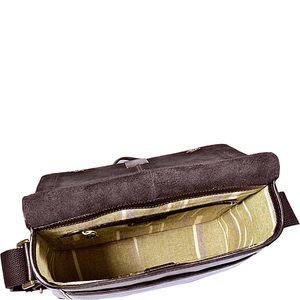 Aiden Medium Vertical Leather Messenger Bag