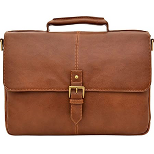 "Charles Leather 15"" Laptop Compatible Briefcase"