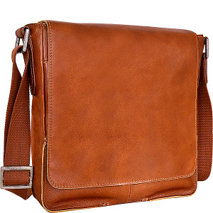 Fred Vertical Leather Messenger