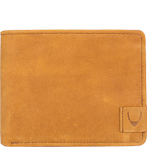 Camel RFID Blocking Bifold Leather Wallet